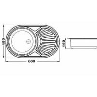 Chiuveta inox pentru blat 60x48 mm anticalcar cu preaplin Cleanmann