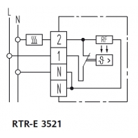Termostat mecanic 0-30 C Eberle RTR