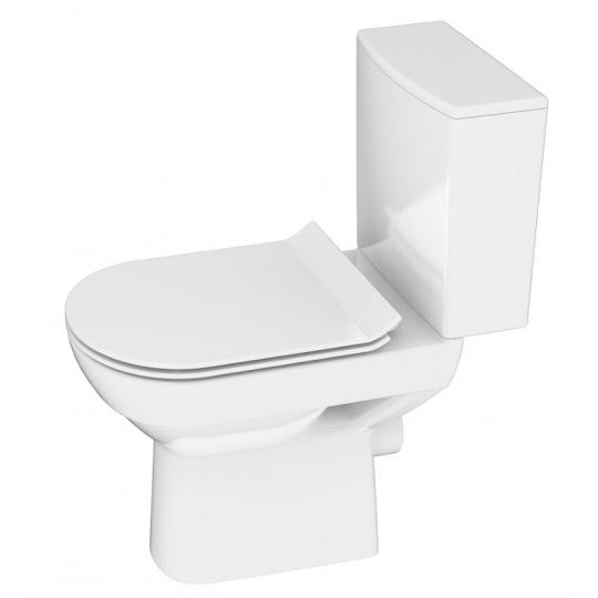 Capac WC SLIM duroplast City, cadere lenta, demontare rapida cu buton (universal) Cersanit