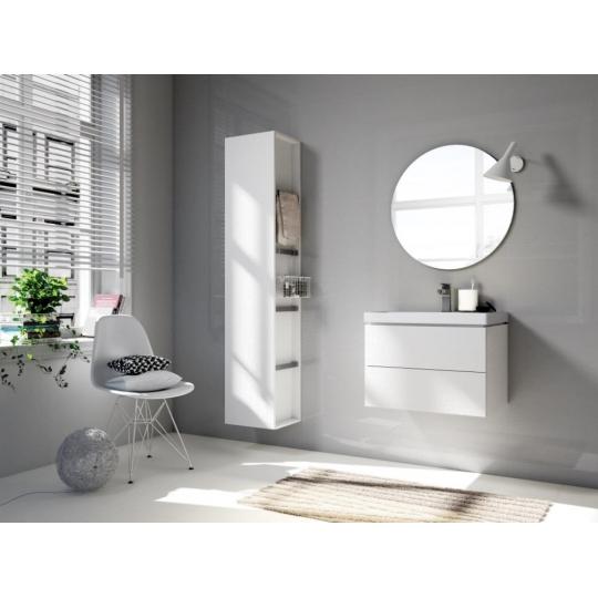 Dulap de baie stejar alb Cersanit City pentru lavoar City 70 cm Cersanit