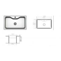 Chiuveta inox pentru blat 60x50 cm anticalcar cu preaplin Cleanmann