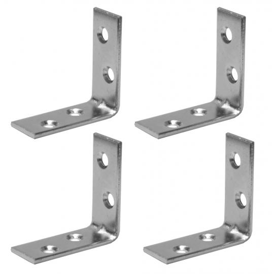 Coltar metalic tip L 50x50x16 mm ZA 4 buc/set Easy-Fix