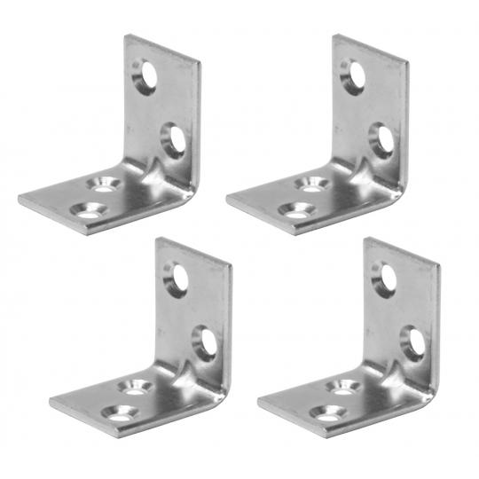 Coltar metalic tip L 25x25x20 mm ZA 4 buc/set Easy-Fix
