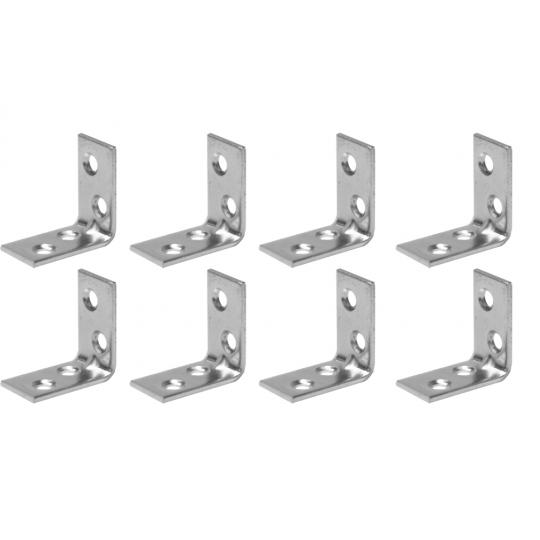 Coltar metalic tip L 30x30x16 mm ZA 8 buc/set Easy-Fix