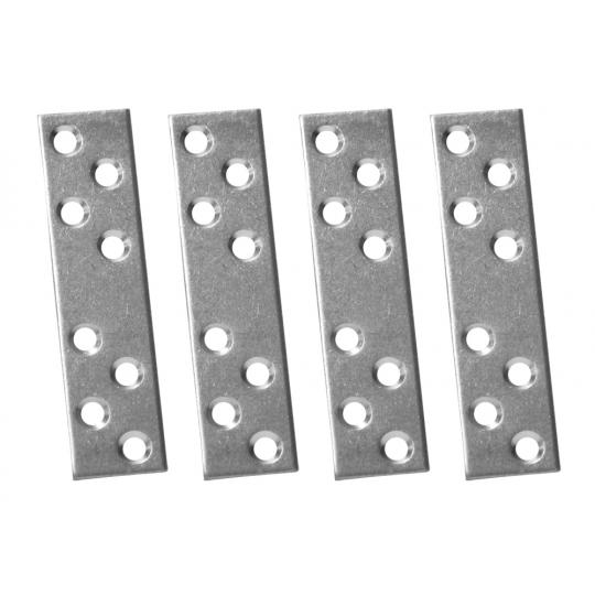 Placuta metalica cu gauri tip I 80x20 mm ZA 4 buc/set Easy-Fix