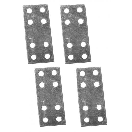 Placuta metalica cu gauri tip I 80x25 mm ZA 4 buc/set Easy-Fix
