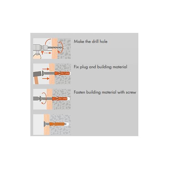 Set fixare Util Mungo MH 855 Diblu+Surub 8 buc/set