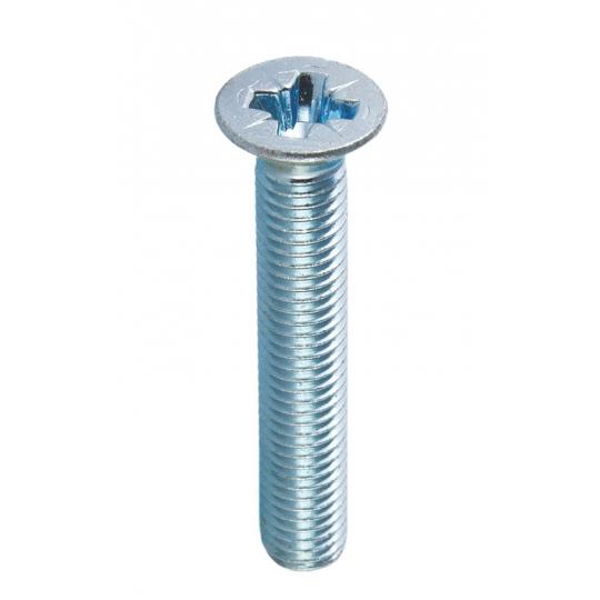Surub cap inecat si amprenta cruce DIN 965-4.8 M3x10, PH1, ZA - 100 buc