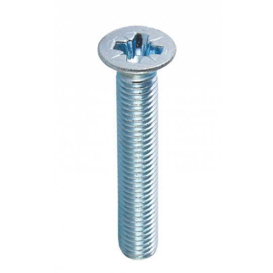 Surub cap inecat si amprenta cruce DIN 965-4.8 M5x20, PH2, ZA - 40 buc
