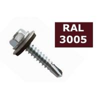 Suruburi autoforante tabla cu saiba cauciuc 4.8x19 - 36 buc, RAL 3005