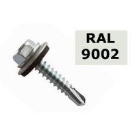 Suruburi autoforante tabla cu saiba cauciuc 4.8x19 - 36 buc, RAL 9002