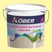 Vopsea lavabila gata colorata Verde Galben Luminos 8.5 l Kober