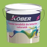 Vopsea lavabila gata colorata Verde Mar 8.5 l Kober
