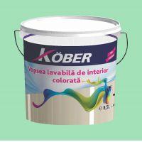 Vopsea lavabila gata colorata Menta 8.5 l Kober