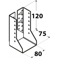 Suport grinzi U tip 2 80x120x2,0 mm Everpro