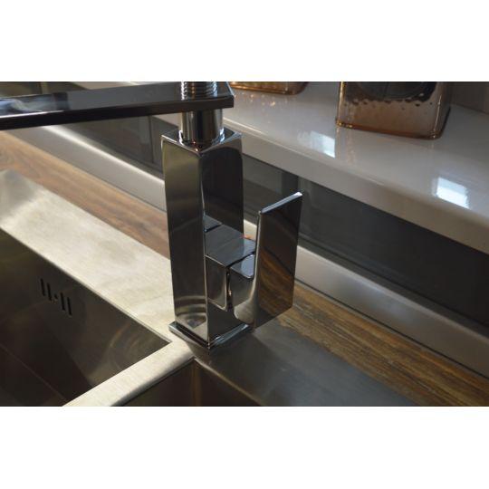 Baterie bucatarie pipa flexibila, cu suport Quadra Pro Cleanmann