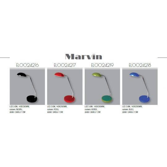 Lampa birou LED Marvin, LED COB 1x3.6W Total Green