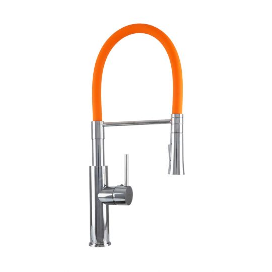 Baterie bucatarie Flex Pull Lineare Orange Cleanmann