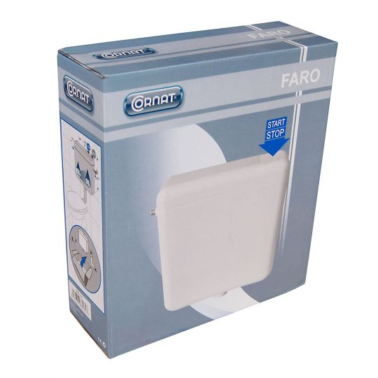 Rezervor WC semi inaltime anticondens Cornat Faro Start/Stop alb