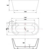 Cada de baie Freestanding Charme 179x80 cm Cleanmann