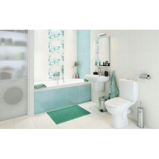 Vas WC compact evacuare laterala Carina, capac duroplast cadere lenta, alimentare rezervor inferior