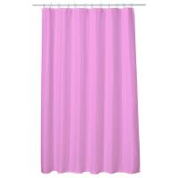 Perdea baie UNI PINK 180x200 cm PEVA, textil Cleanmann + set 12 inele incluse