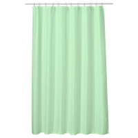 Perdea baie UNI LIGHT GREEN 180x200 cm PEVA, textil Cleanmann + set 12 inele incluse