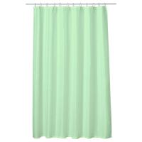 1.00 x Perdea baie UNI LIGHT GREEN 180x200 cm PEVA, textil Cleanmann + set 12 inele incluse