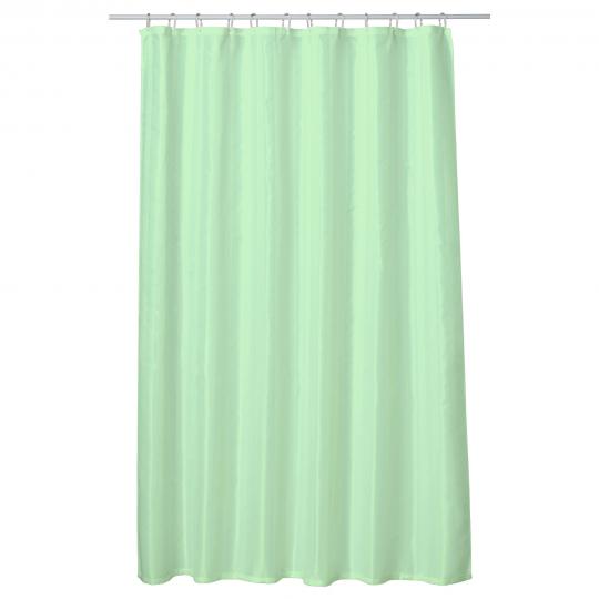 Perdea baie UNI LIGHT GREEN 180x200 cm PEVA, textil Cleanmann + set 12 inele incluse