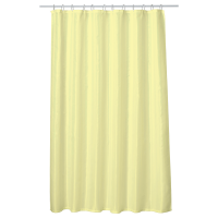 Perdea baie UNI LIGHT YELLOW 180x200 cm PEVA, textil Cleanmann + set 12 inele incluse