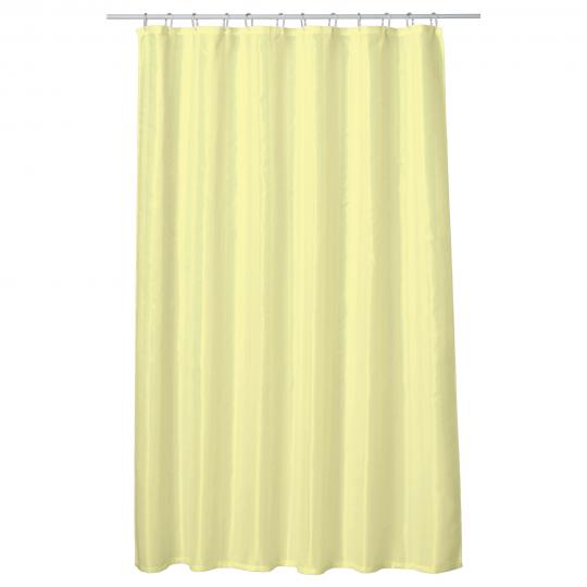 Perdea baie UNI LIGHT YELLOW 180x200 cm PEVA, textil Cleanmann + set 12 inele incluse