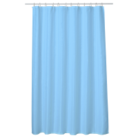 Perdea baie UNI LIGHT BLUE 180x200 cm PEVA, textil Cleanmann + set 12 inele incluse