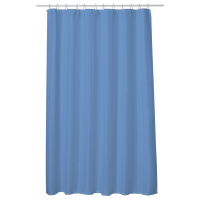 Perdea baie UNI BLUE 180x200 cm PEVA, textil Cleanmann + set 12 inele incluse
