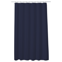 1.00 x Perdea baie UNI NAVY BLUE 180x200 cm PEVA, textil Cleanmann + set 12 inele incluse