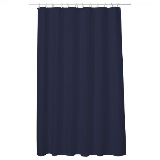 Perdea baie UNI NAVY BLUE 180x200 cm PEVA, textil Cleanmann + set 12 inele incluse