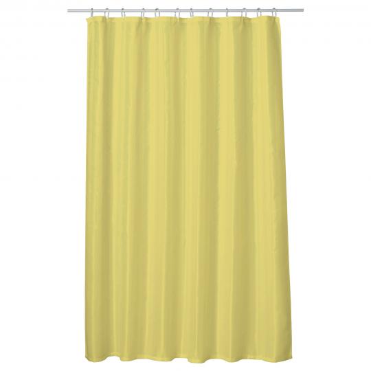 Perdea baie UNI BEIGE 180x200 cm PEVA, textil Cleanmann + set 12 inele incluse