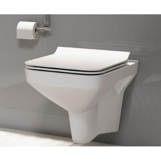 Vas WC suspendat 742 Como Clean On Cersanit + capac duroplast, Slim, cadere lenta Como