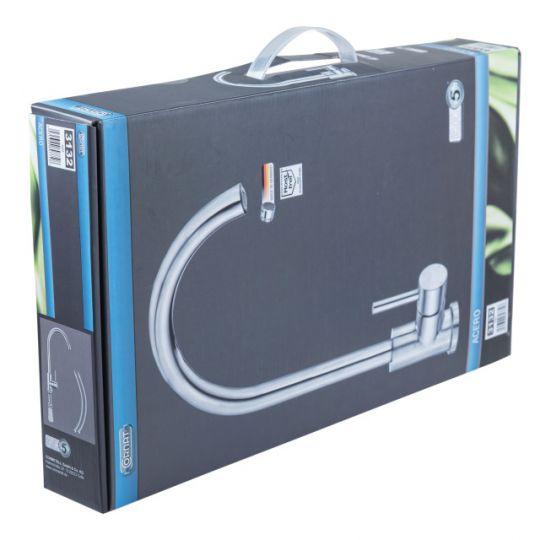 Baterie bucatarie din inox pipa inalta Acero Cornat