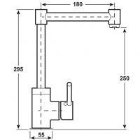 Baterie bucatarie pipa inalta Alento Cornat