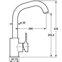 Baterie bucatarie pipa inalta Izola Cornat