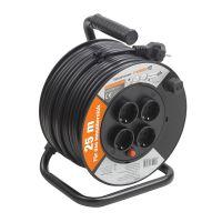 Prelungitor pe tambur 25 m, cablu 3x1.5 mm, H05VV-F3G1,5, IP20 Meister Mini