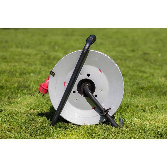 Prelungitor pe tambur 25 m, cablu 3x1.5 mm, H07RN-F 3G 1,5, IP44 Meister Pro Red Metal