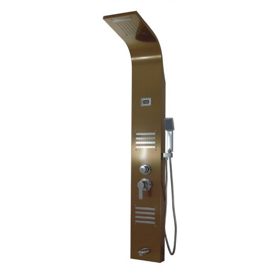 Panou dus hidromasaj inox 5 functii Trendy Thermo Copper Satin Cleanmann