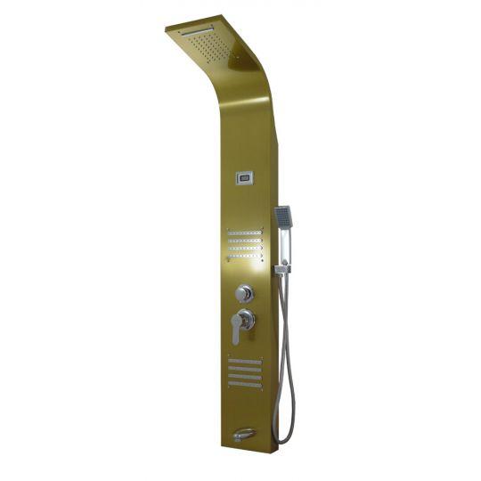 Panou dus hidromasaj inox 5 functii Trendy Thermo Gold Satin Cleanmann