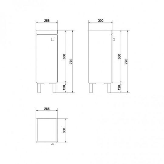 Set dulap baie SATI alb + picioare + lavoar Cersania 40 Cersanit