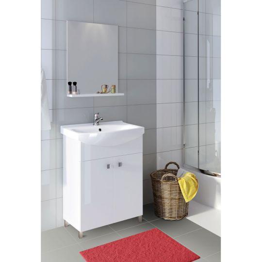 Set dulap baie SATI alb + picioare + lavoar Cersania 50 Cersanit