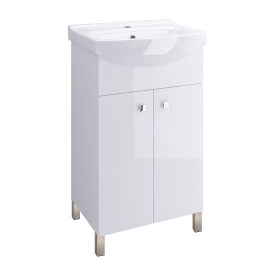 Set dulap baie SATI alb + picioare + lavoar Cersania 60 Cersanit
