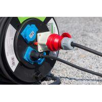 Prelungitor pe tambur 20 m, cablu 3x2.5 mm, H07RN-F3G2,5,400V, IP44 Meister Pro Green