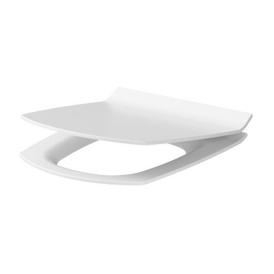 Capac WC Carina Slim duroplast antibacterian, cadere lenta Cersanit, demontare rapida Cersanit
