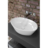 Lavoar pe blat Opoczno Splendour Oval 50 + ventil dop ceramica
